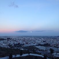 View from the Tetouan medina at dusk.
