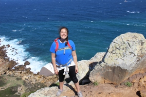 Iliana on a recent hike around Cap Spartel in Tangier.